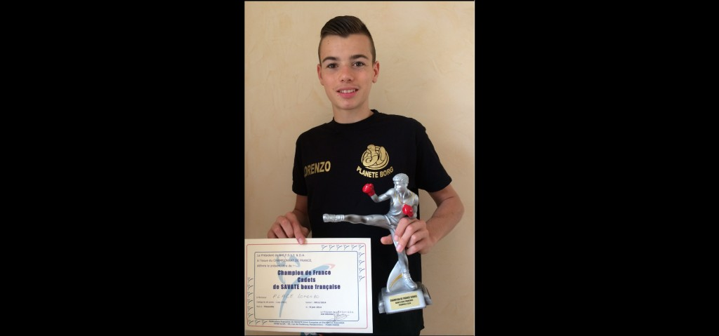 Lorenzo Place champion de France jeune savate 2014