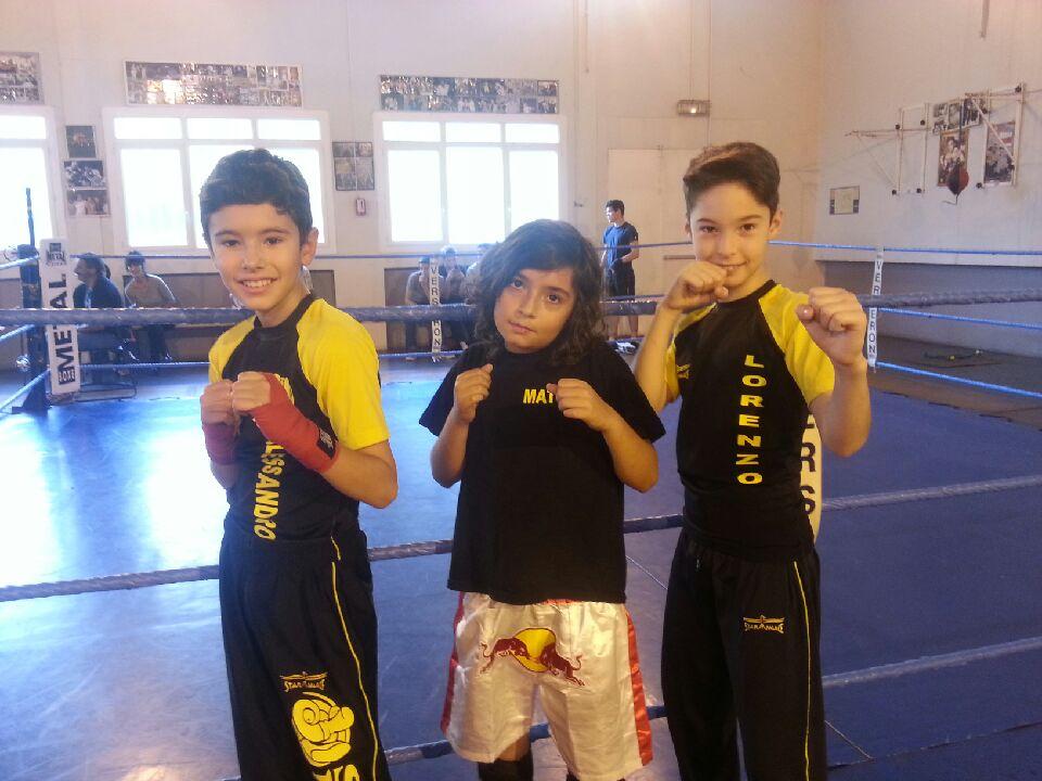 Alessandro, Mateo et Lorenzo